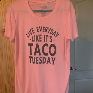 Taco Tuesday message tee